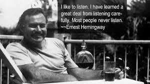 listening to ernest hemingway u0027s audio books u2013 ernest hemingway
