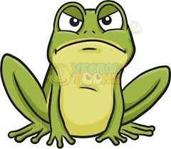 a frowning frog cartoon clipart vector toons