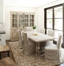 French Country Dining Room Of Long Kitchen Table At Rustic Table - Long kitchen tables