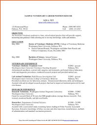 veterinary assistant resume exles cover letter for veterinary technician choice image cover letter