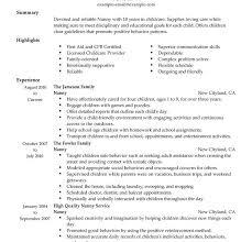 Nanny On A Resume Download Nanny Resume Sample Haadyaooverbayresort Com
