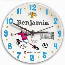 Childrens Bedroom Wall Clocks Childrens Bedroom Ceramic Wall Clocks Personalise Boys And Girls