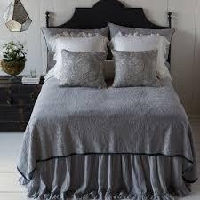 Monogrammed Coverlet Bella Notte Linens Adele Coverlet Silk Velvet Trim Luxury