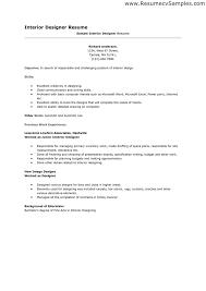 Resume For Interior Design Internship Interior Design Resumes Cronjob Billybullock Us