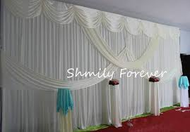 wedding backdrop curtains for sale aliexpress buy hot sale classic white 3x6m ready made