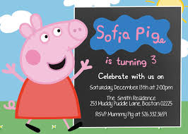 art birthday invitations birthday invites exciting peppa pig birthday invitations ideas