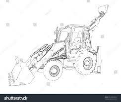 outlines excavator stock illustration 520859692 shutterstock