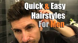 2 quick u0026 easy men u0027s hairstyles that look awesome men u0027s hair
