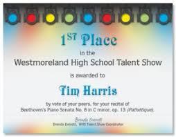 reward your future rock stars with music award certificates