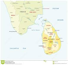 Map Of South India by Sri Lanka And South India Administrative Map Stock Vector Image