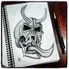 devil skull work evil raw tattoo pencil passion pi u2026 flickr