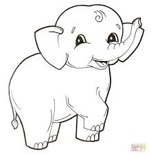 cute baby elephant coloring free printable coloring pages