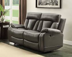 Grey Leather Reclining Sofa Homelegance Ackerman Reclining Sofa Set Grey Bonded Leather