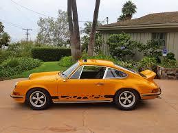 porsche signal yellow car inventory update 1973 porsche 911 rs touring historic