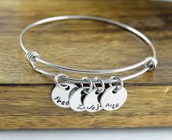 mothers bracelet personalized bangle bracelet mothers jewelry bracelet