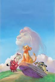 king of backdrops 5x7ft blue sky lion king simba nala pumbaa timon rocks baby kids