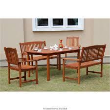 Wooden Patio Table Jakarta Wooden Patio Set 5pc Garden Outdoor Furniture