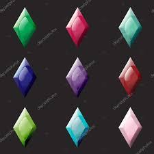 different color purples set of rhombus different color crystals gemstones gems diamonds