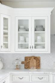 wall mounted kitchen display cabinets how to style glass kitchen cabinets sanctuary home decor