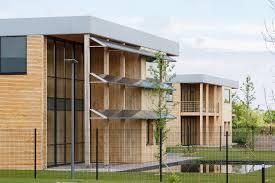 bureau ossature bois bâtiment préfabriqué pour bureau en bois à ossature bois