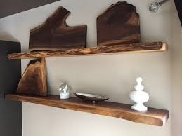 Live Edge Wood Shelves by Live Edge Floating Shelf Wood Floating Shelves Natural Wood