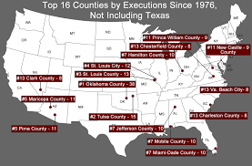 Virginia County Map With Cities Executions By County Death Penalty Information Center