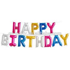 happy birthday banner foil letter balloons buy letter balloons