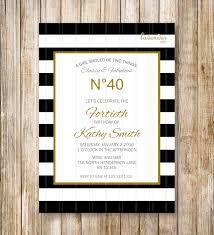 classy and fabulous black stripes birthday invitation woman