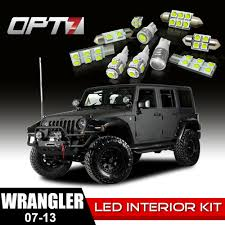 jeep wrangler map light replacement 12pc interior led replacement light bulbs package set for 07 13 jeep