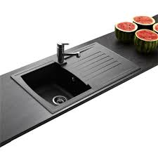 evier cuisine noir 1 bac évier de synthèse noir arena 1 bac 1 égouttoir amazon fr bricolage