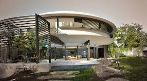 marine mollusk inspired circle house is flooded with natural light