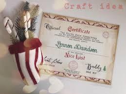 editable santa u0027s nice list certificate signed by santa