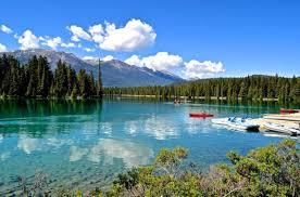 the fairmont jasper park lodge resort alberta canada canoeing