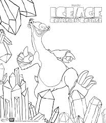 ice age collision course colouring in pages for kids families online