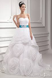 White Wedding Dresses White And Blue Wedding Dresses Sky Blue And White Bridal Gown