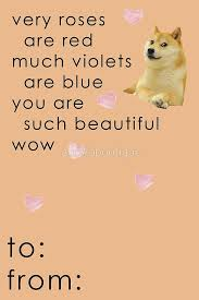doge meme wow such beautiful valentine card funny by