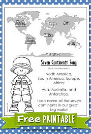 Blank World Map Worksheet by Seven Continents Song Fun Songs Student Learning And Songs