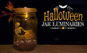 diy halloween jar luminaries decoracion de halloween mason