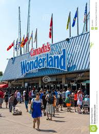 Canada S Wonderland Map by Entrance To Canada U0027s Wonderland Editorial Stock Image Image