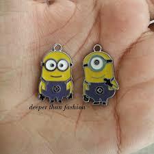 minion earrings accessories minion charms deeper than fashion