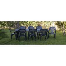 salon jardin 8 personnes pack promo salon de jardin lipari 8 personnes pas cher à prix auchan