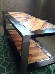 Industrial Rustic Coffee Table Wood Metal Table U2013 Littlelakebaseball Com