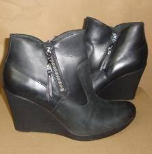 ugg australia emalie 1008017 black leather ankle waterproof ugg australia leather wedge ankle boots for ebay