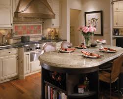 Country Kitchen Tables by Oval Country Kitchen Island With Granite Top In An Antique Creamy