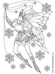 fairy coloring pages snowflake fairy to color black and white