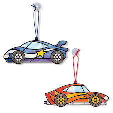 on sale doug stained glass made easy race car ornaments