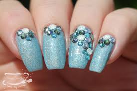 nail art ft powder polish and swarovski crystals youtube