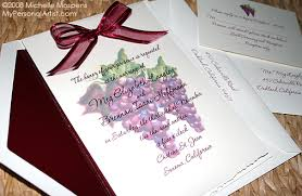 Winery Wedding Invitations Unique Wedding Invitations Vineyard Winery Grape Wedding