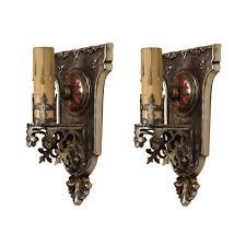Fleur De Lis Wall Sconce Tudor Sconce Pair With Fleur De Lis Antique Lighting
