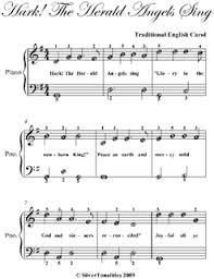 hark the herald angels sing easiest piano sheet music pdf by